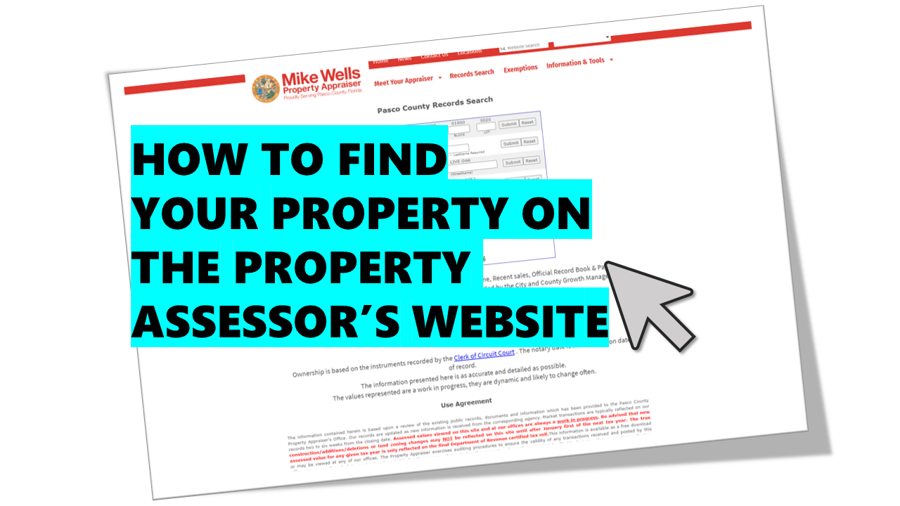 Sell Vacant Land - Find Your Property's Parcel Number